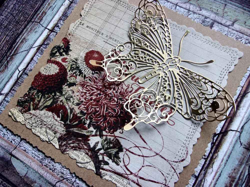 butterfly metal cutting dies scrapbooking embossing paper
